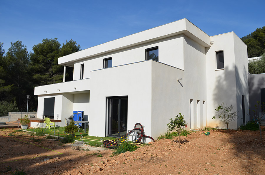 réalisation maison contemporaine par BMK Construction
